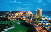 Panama City Beach, Florida, view of Front Beach Road at night du — Stock Photo