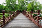 Walking bridge in park on riverfront in Columbus, Georgia — Stock Photo