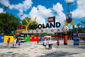 Visitors pass through the entrance to Legoland Florida — Stock Photo