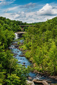 High view of Little River Canyon Federal Reserve in northern Ala — Stock Photo