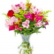 Colorful flower bouquet arrangement centerpiece isolated on white — Stok fotoğraf #9677662