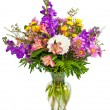 Colorful flower arrangement isolated on white. — Stock Photo #9937331