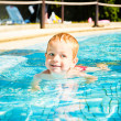 Boy in water park — Stock Photo #39861755