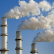 Chimneys and smoke — Stock Photo