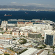 Gibraltar and its bay - Foto Stock
