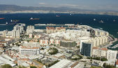Gibraltar and its bay — Stock Photo