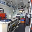 Within ambulance - Foto Stock