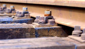 Raylar ve demiryolu — Stok fotoğraf