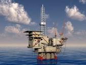 石油平台 — 图库照片