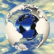 Stock Photo: Hollow earth and metal ball