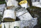 Kilometre stones — Stock Photo
