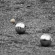 The game of petanque — Stock Photo