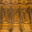 Woodwork in the cathedral of malaga — Stock Photo