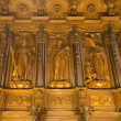 Woodwork in the cathedral of malaga - Stock Photo