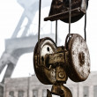 Stock Photo: Hoist and head frame