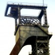 Head frame of mine shafts — Stock Photo