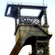 Stock Photo: Head frame of mine shafts