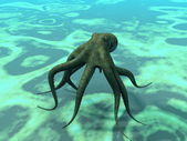 Octopus at the bottom of the sea — Stock Photo