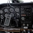 Cockpit passenger aircraft — Stock Photo