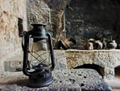 An old oil lamp — Foto Stock
