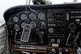 Avions de passagers du poste de pilotage — Photo