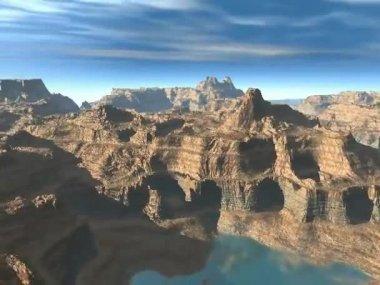 Landskapet i Arizonaöknen. — Stockvideo