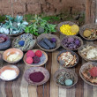 Stockfoto: Natural dyes of wool