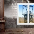 Stock Photo: Head frame and window