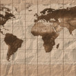 Stock Photo: Old maps of globe
