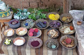 Natural dyes of wool — 图库照片