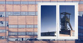 Brick and glass facade — Stock Photo