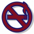 No smoking sign rotating on a white background. — Stock Video