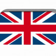 British flag with frame rotating — Stock Video
