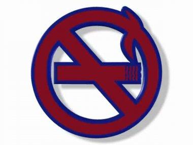Oznak palenia na białym tle. — Wideo stockowe
