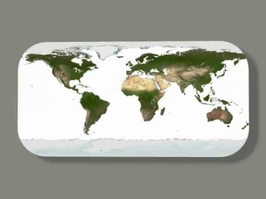 World map — Stock Video