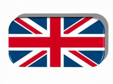 Bandiera britannica con telaio girevole — Video Stock