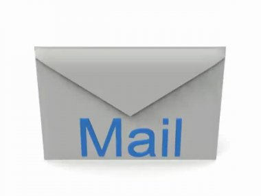 メール署名の白い背景を回転させる. — ストックビデオ