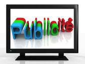 TV advertising — Stockfoto