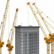 Cranes building — Stock Photo