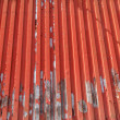 Red corrugated — Stock Photo