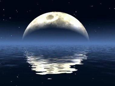 Moon reflected in water — Stock Video