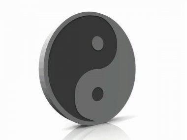 Ying and yang symbol — Stock Video