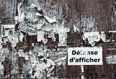 Affisch vägg — Stockfoto
