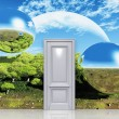 Door to magical landscape — Stock Photo #48976129