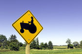 Farm tractor sign — Stock Photo