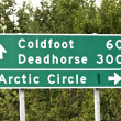 Stock Photo: Alaska road sign