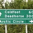 Stock Photo: Alaskroad sign