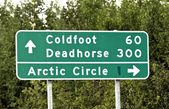 Alaska road sign — Stock fotografie