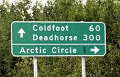 Alaska road sign — Stock Photo