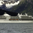 Cruise ship leaving Seward - Stock Photo